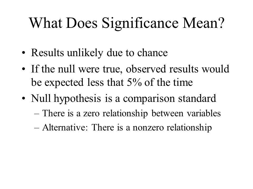 What Does Significance Mean