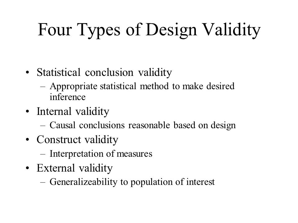 Four Types of Design Validity