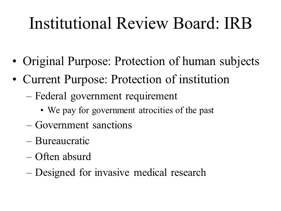 Institutional Review Board: IRB