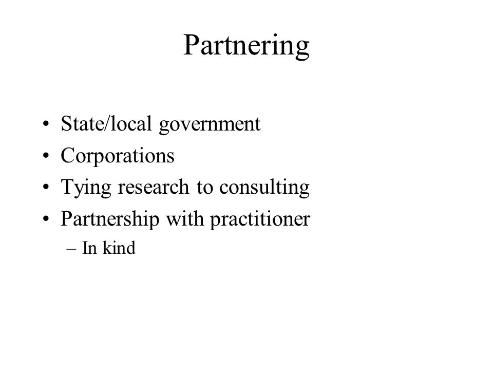 Partnering State/local government Corporations