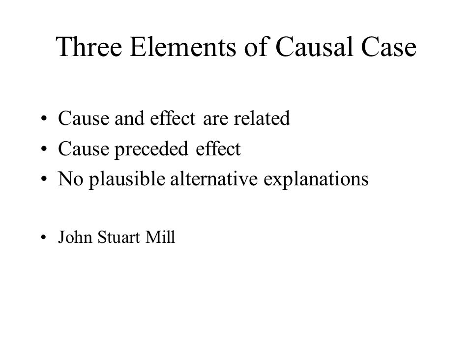 Three Elements of Causal Case