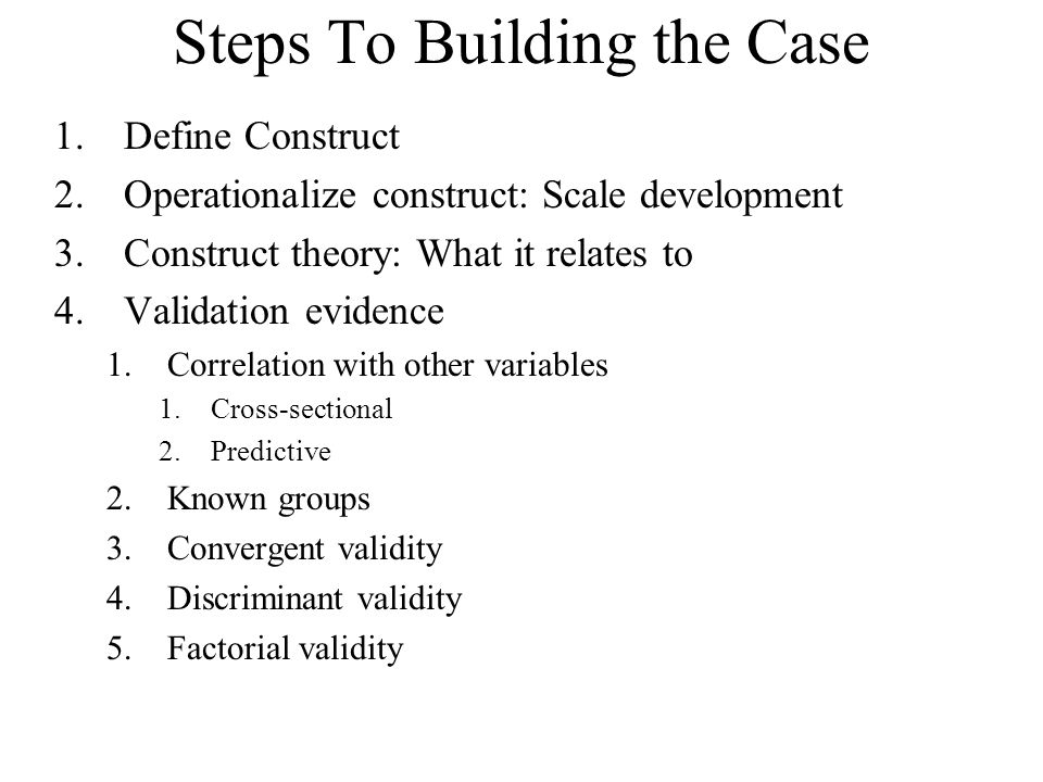 Steps To Building the Case