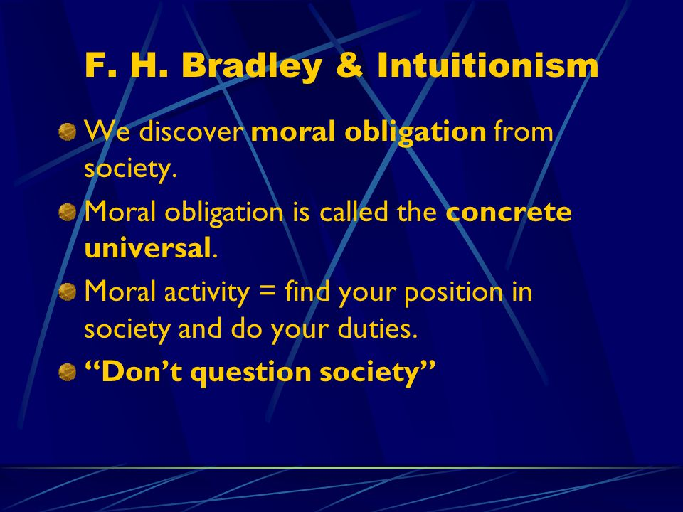 F. H. Bradley & Intuitionism