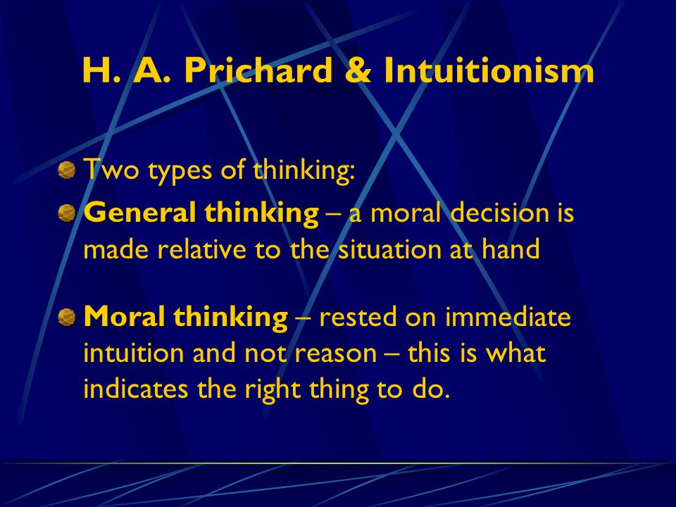 H. A. Prichard & Intuitionism