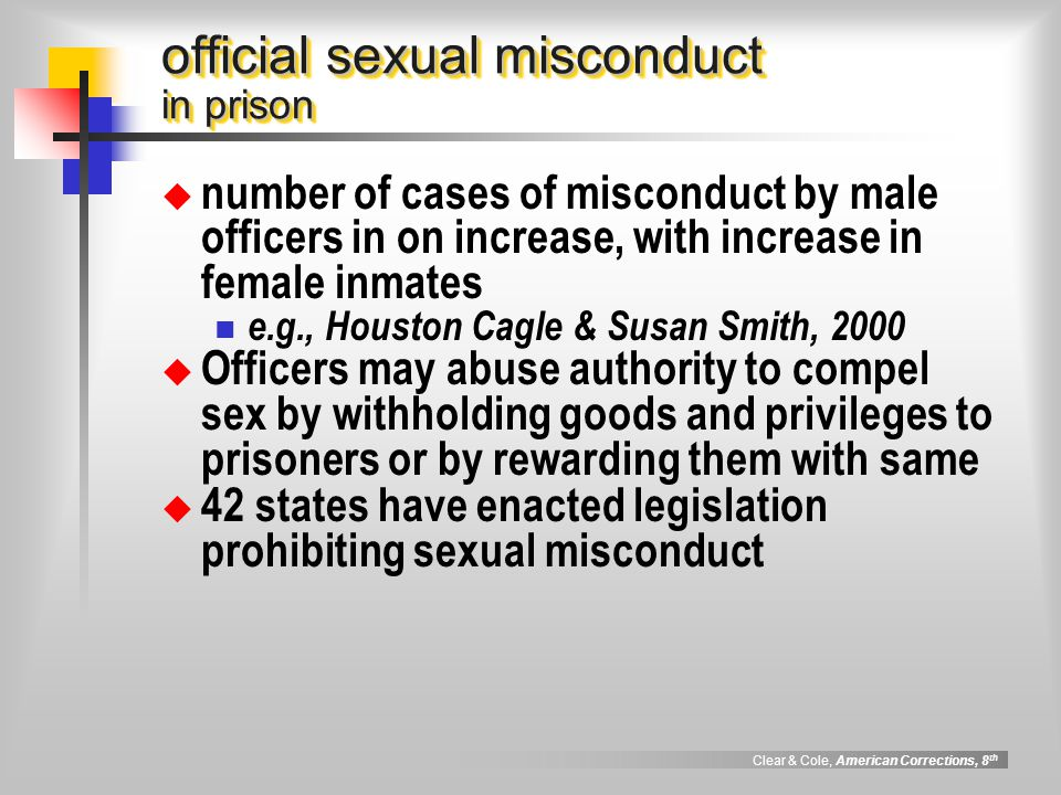 official sexual misconduct in prison