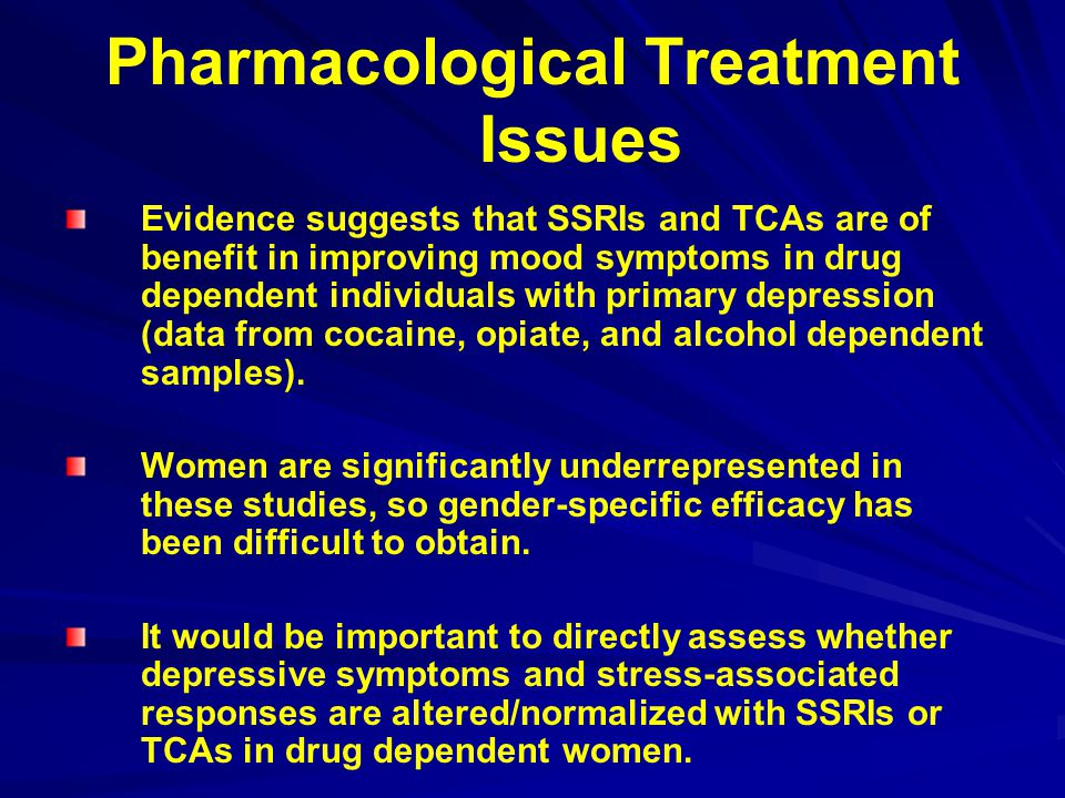 Pharmacological Treatment Issues