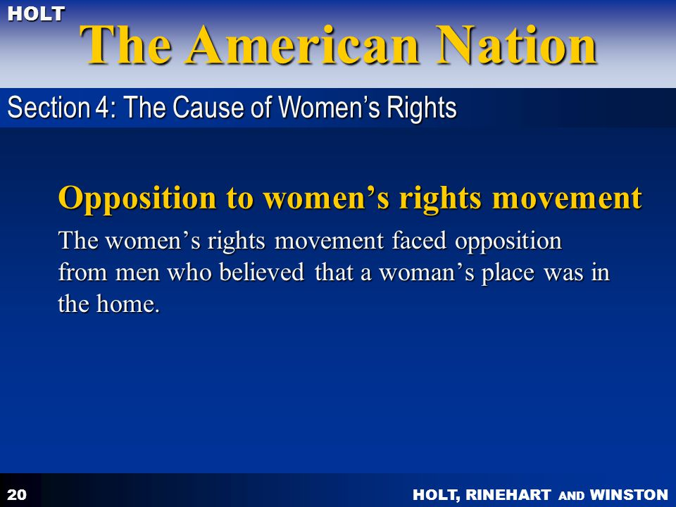 Opposition to women's rights movement