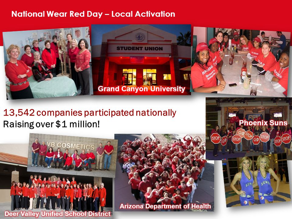 National Wear Red Day – Local Activation