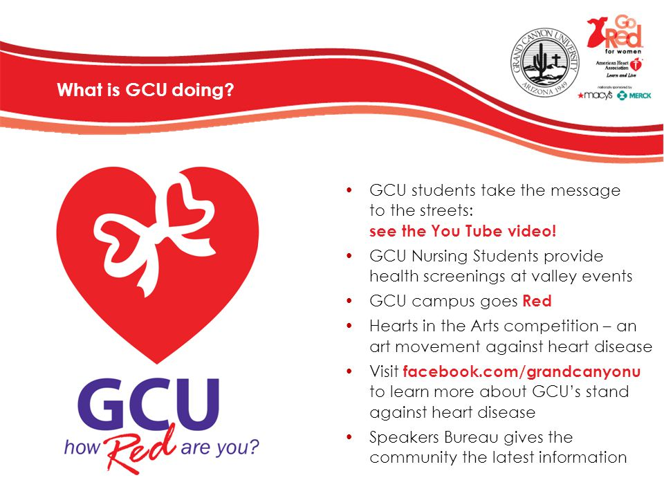 GCU students take the message to the streets: see the You Tube video!
