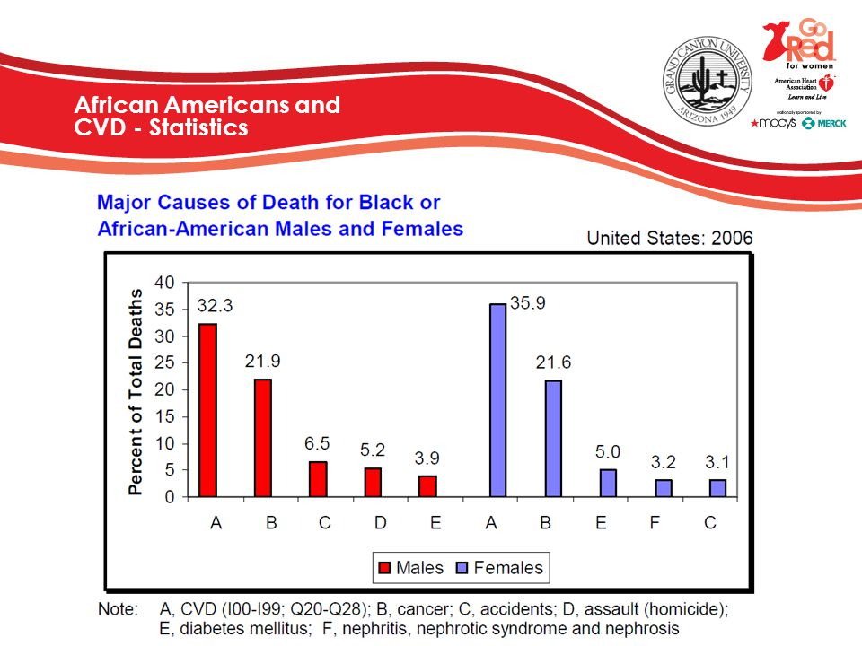African Americans and CVD - Statistics