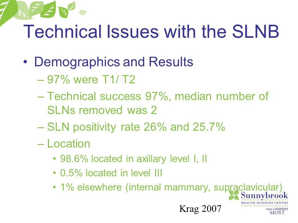 Technical Issues with the SLNB