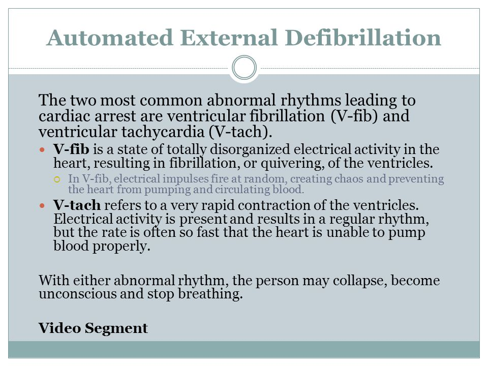 Automated External Defibrillation