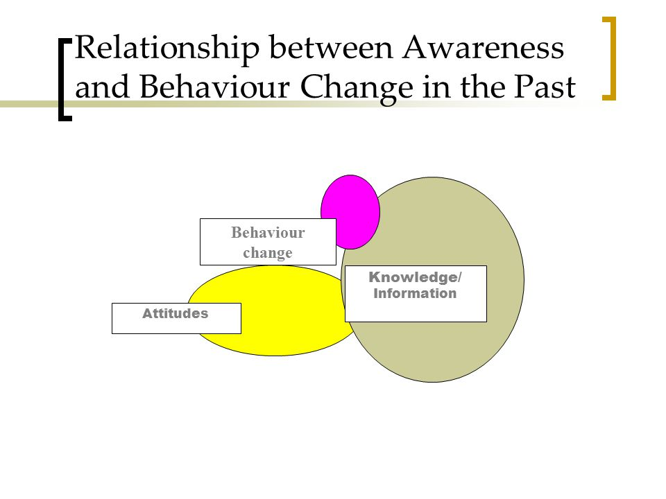 Relationship between Awareness and Behaviour Change in the Past