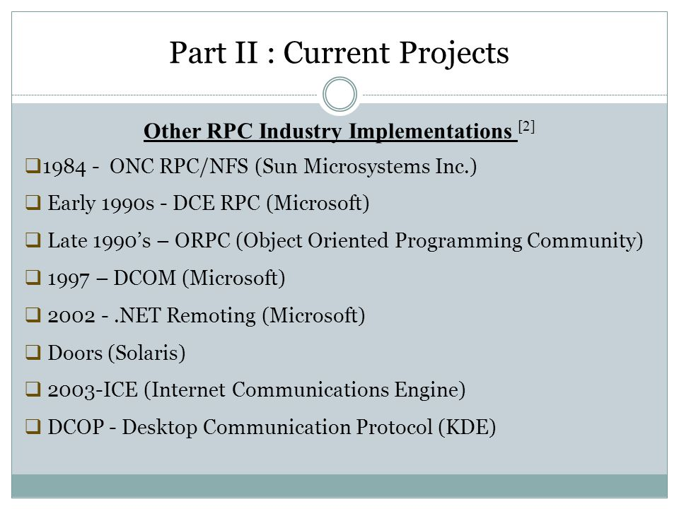 Other RPC Industry Implementations [2]