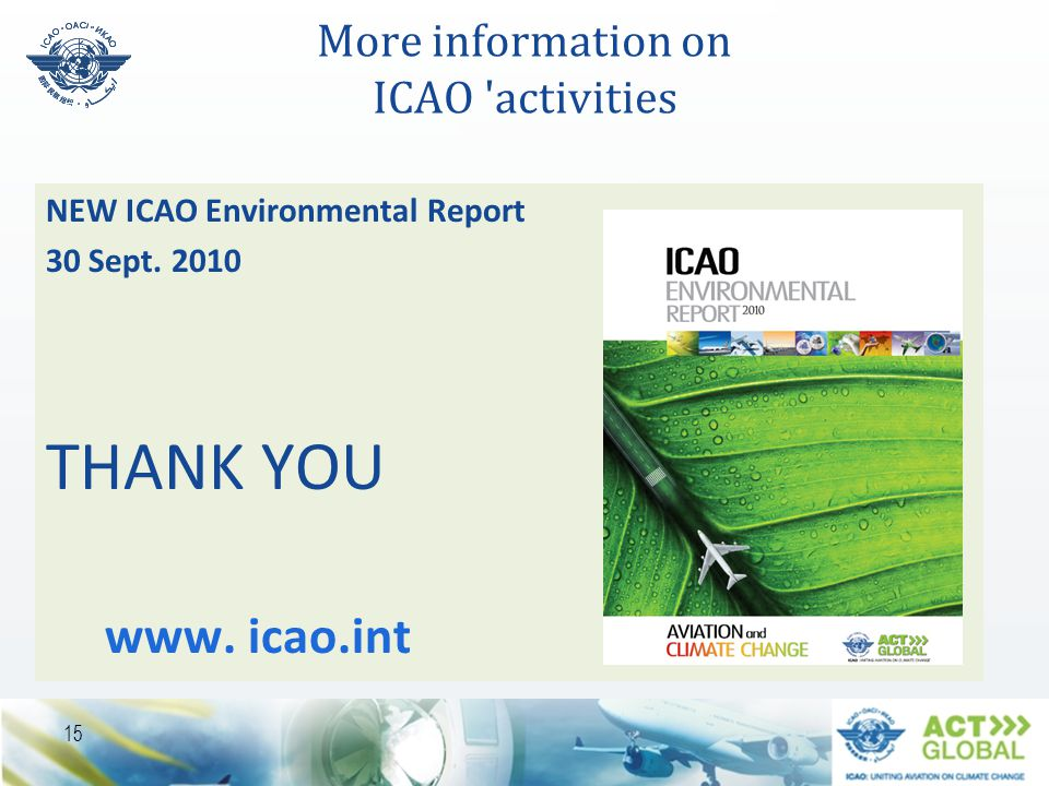 More information on ICAO activities