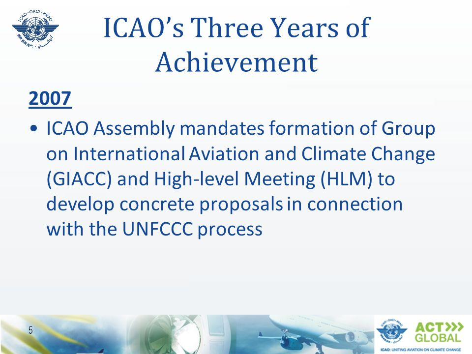 ICAO's Three Years of Achievement