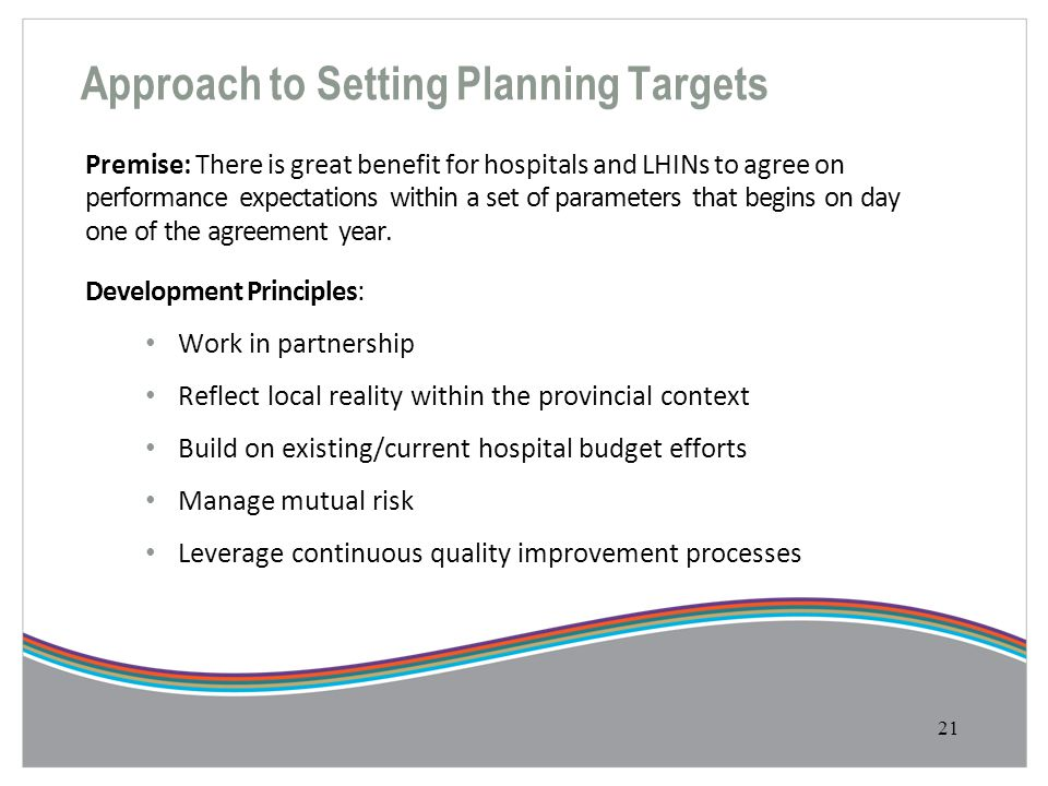 Approach to Setting Planning Targets