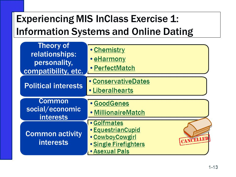 Experiencing MIS InClass Exercise 1: Information Systems and Online Dating