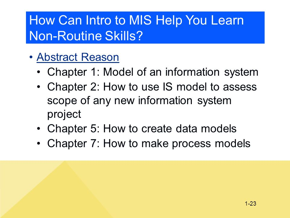 How Can Intro to MIS Help You Learn Non-Routine Skills