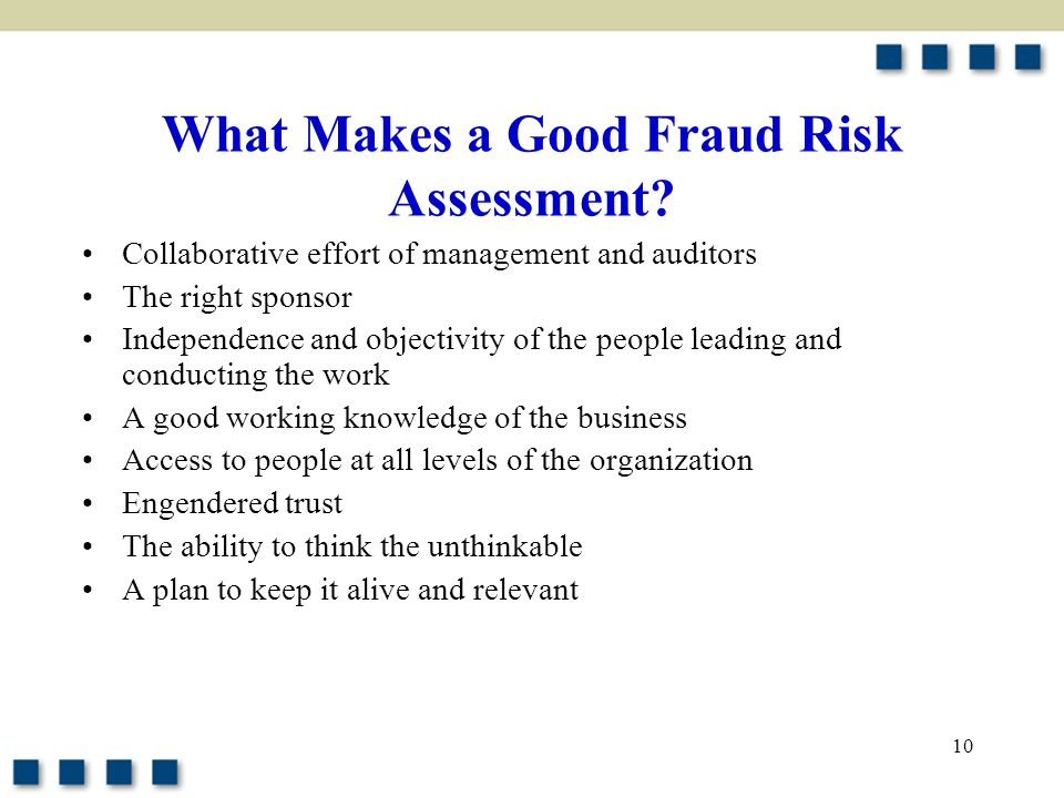 What Makes a Good Fraud Risk Assessment
