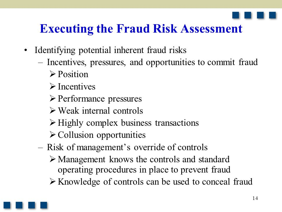 Executing the Fraud Risk Assessment