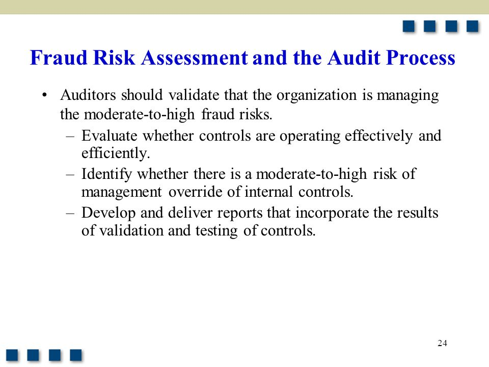 Fraud Risk Assessment and the Audit Process