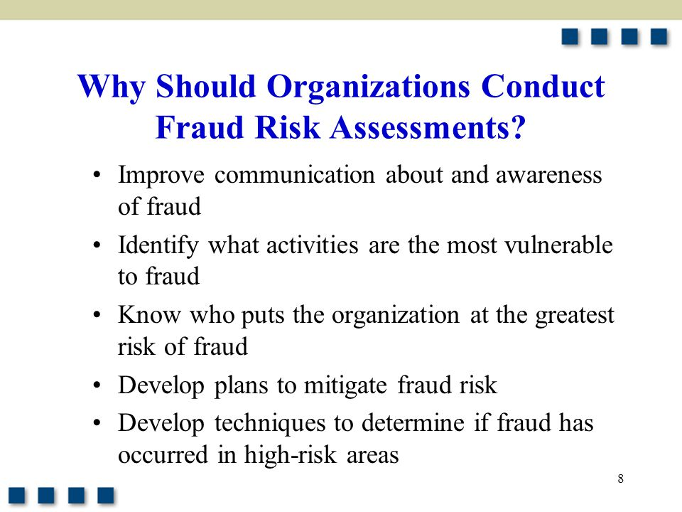 Why Should Organizations Conduct Fraud Risk Assessments