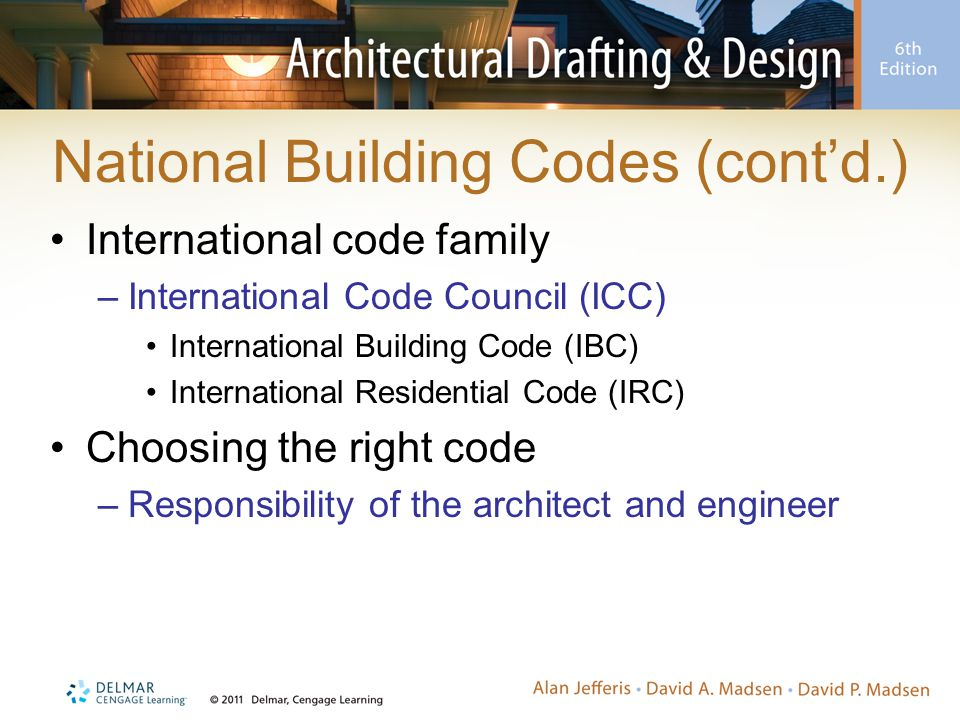 National Building Codes (cont'd.)