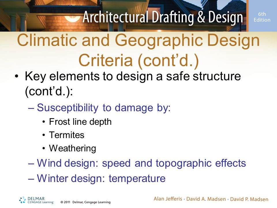 Climatic and Geographic Design Criteria (cont'd.)