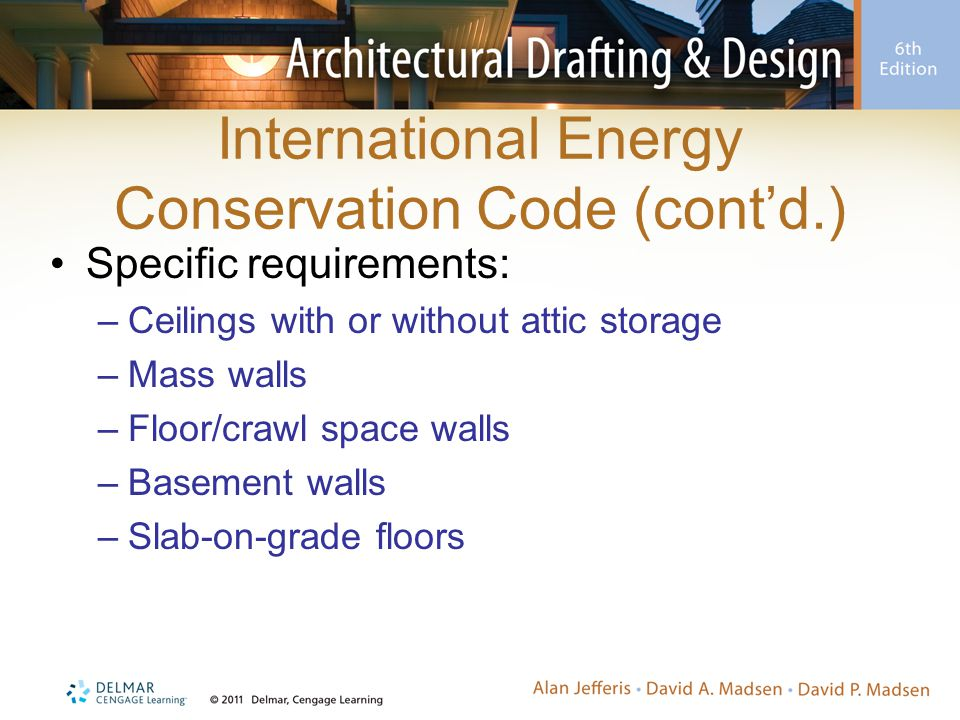 International Energy Conservation Code (cont'd.)