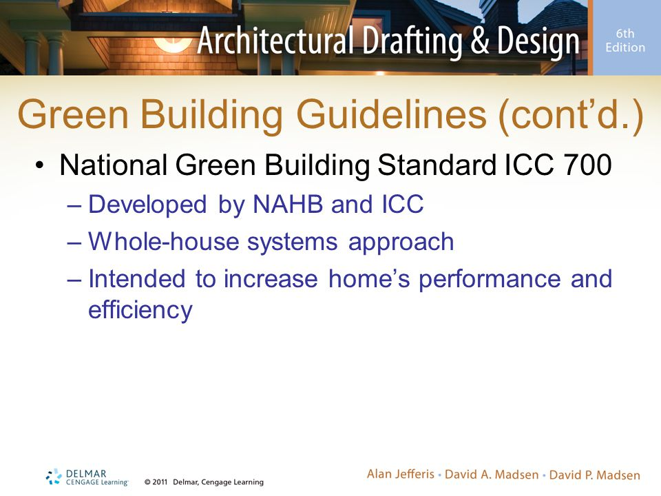 Green Building Guidelines (cont'd.)