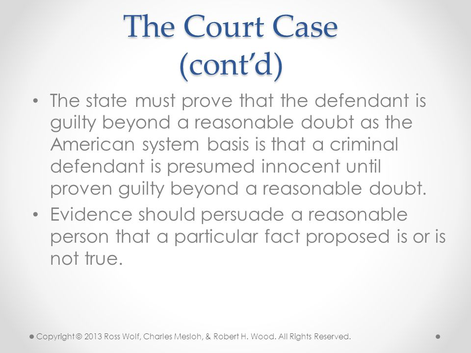 The Court Case (cont'd)