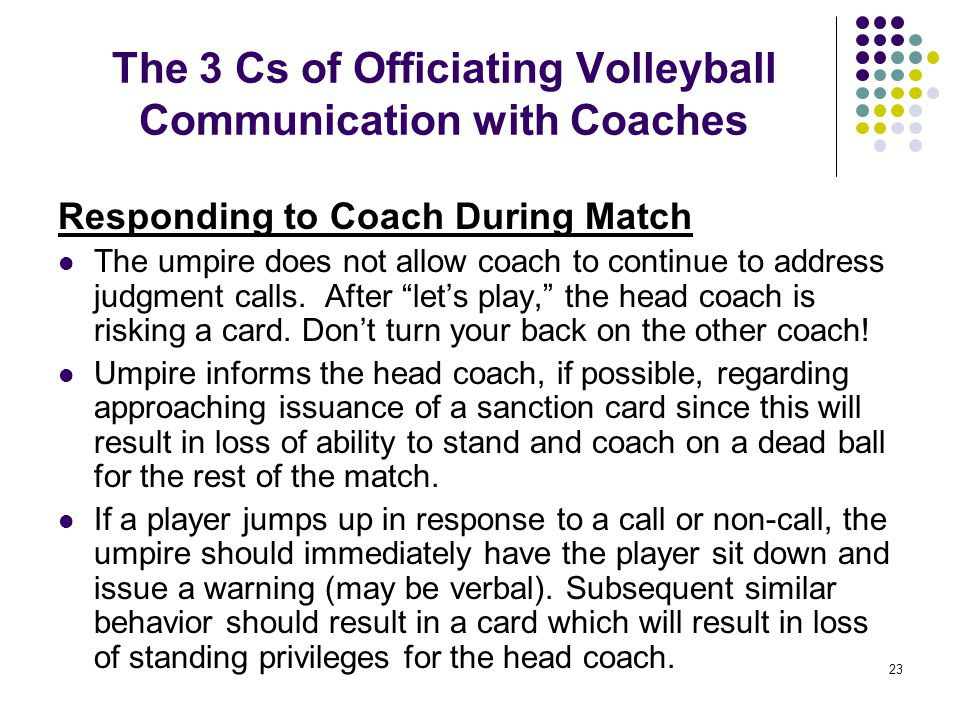 The 3 Cs of Officiating Volleyball Communication with Coaches