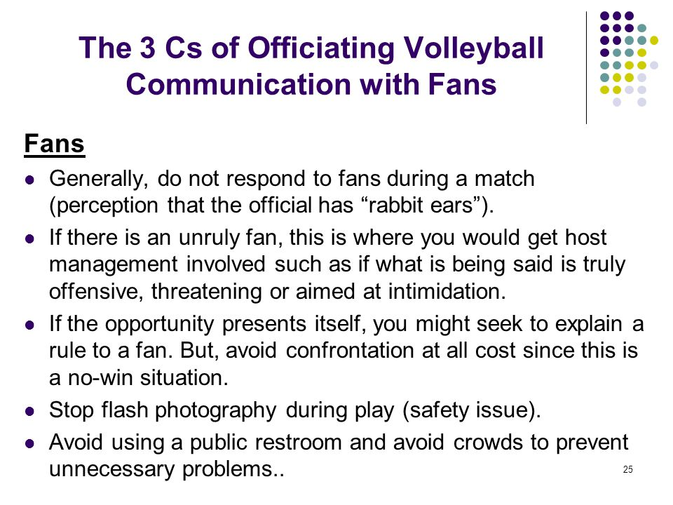 The 3 Cs of Officiating Volleyball Communication with Fans