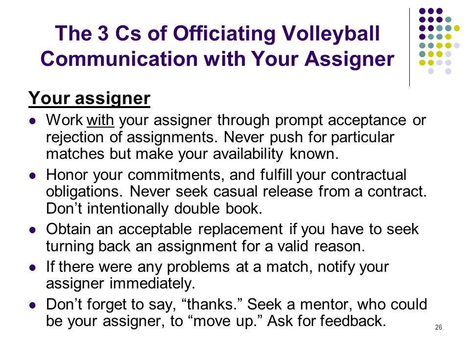 The 3 Cs of Officiating Volleyball Communication with Your Assigner