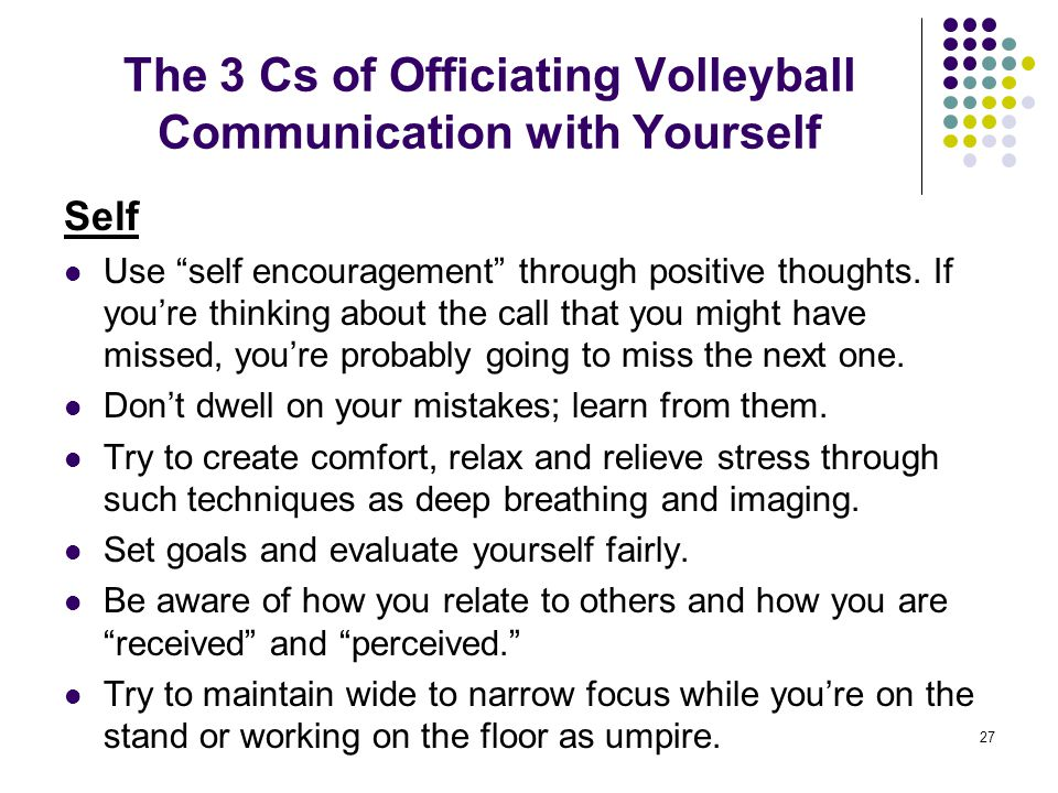 The 3 Cs of Officiating Volleyball Communication with Yourself