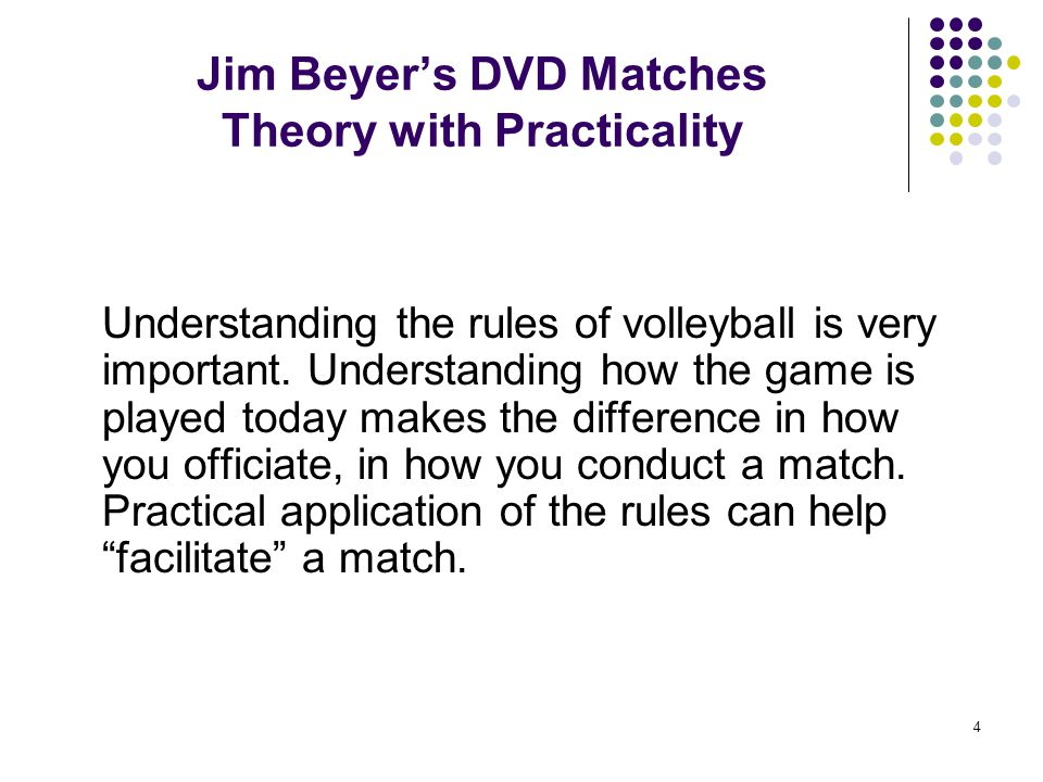 Jim Beyer's DVD Matches Theory with Practicality