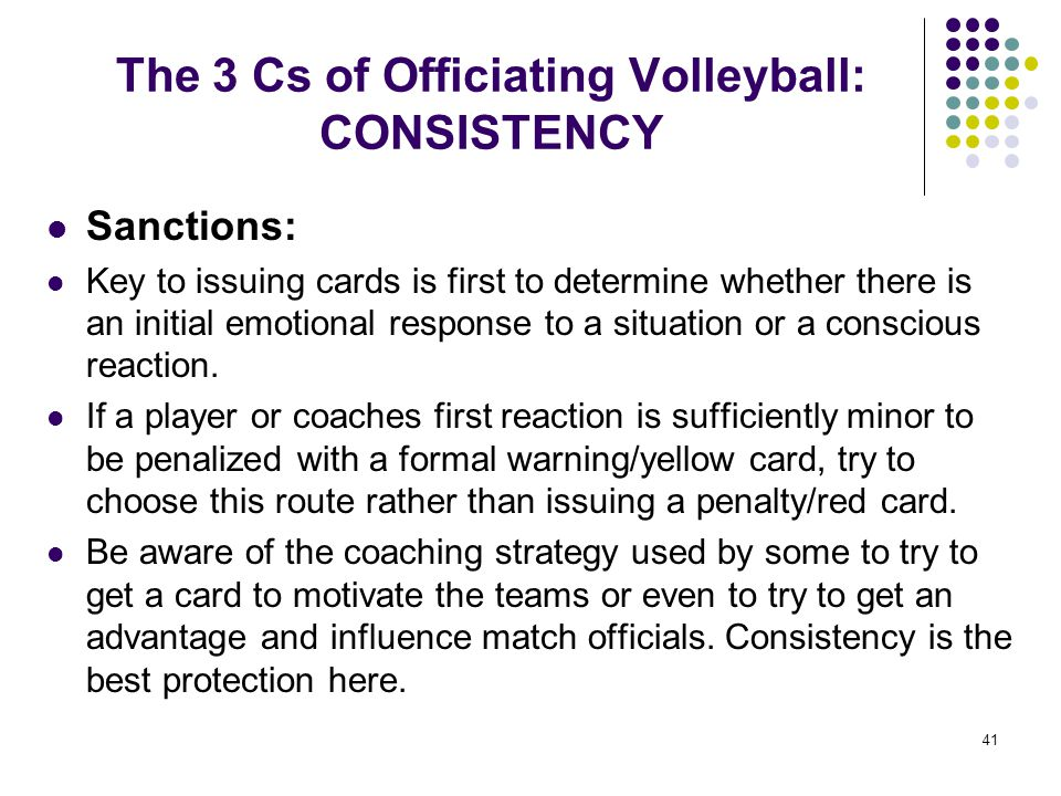 The 3 Cs of Officiating Volleyball: CONSISTENCY
