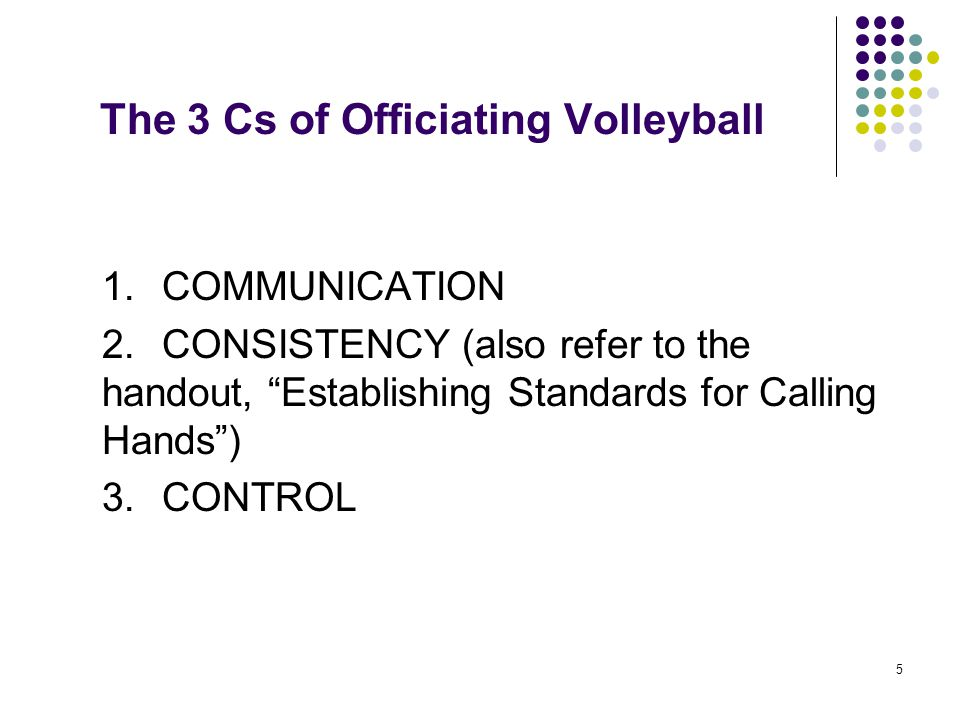 The 3 Cs of Officiating Volleyball