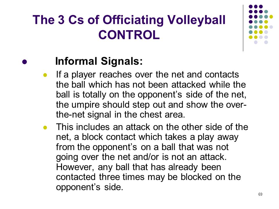 The 3 Cs of Officiating Volleyball CONTROL