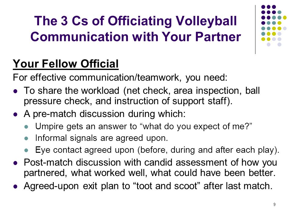 The 3 Cs of Officiating Volleyball Communication with Your Partner