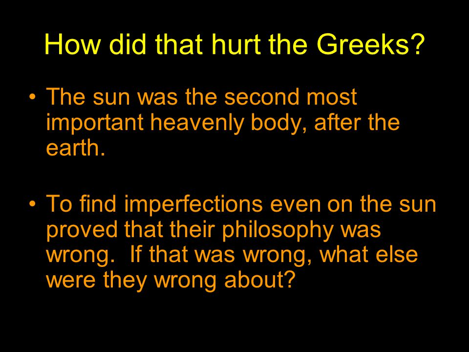 How did that hurt the Greeks