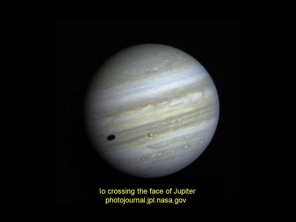 Io crossing the face of Jupiter photojournal.jpl.nasa.gov