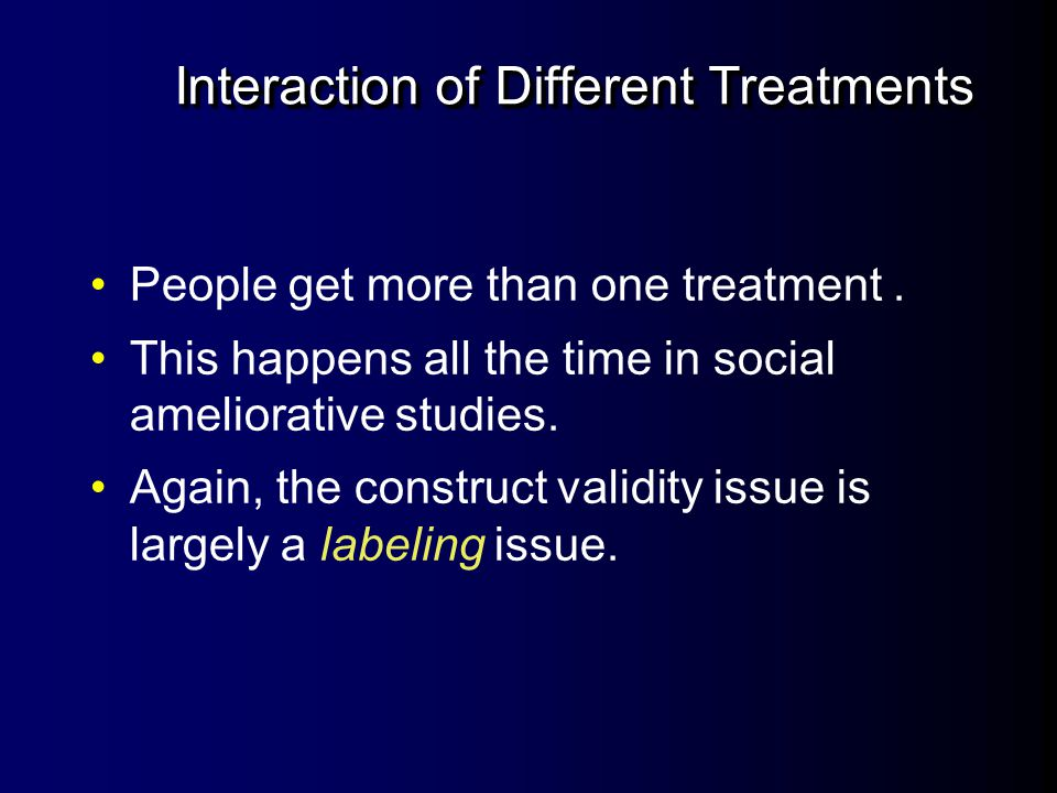 Interaction of Different Treatments
