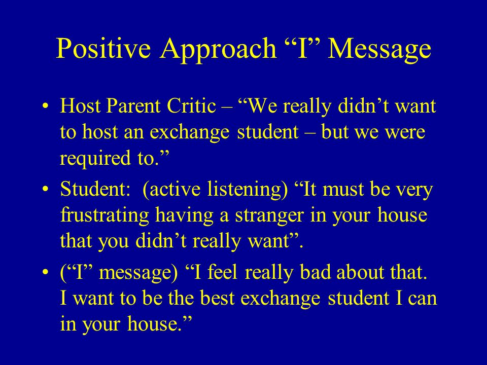 Positive Approach I Message