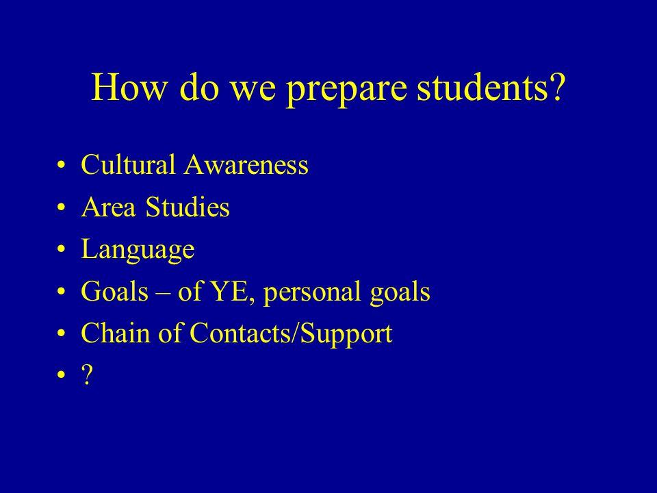 How do we prepare students