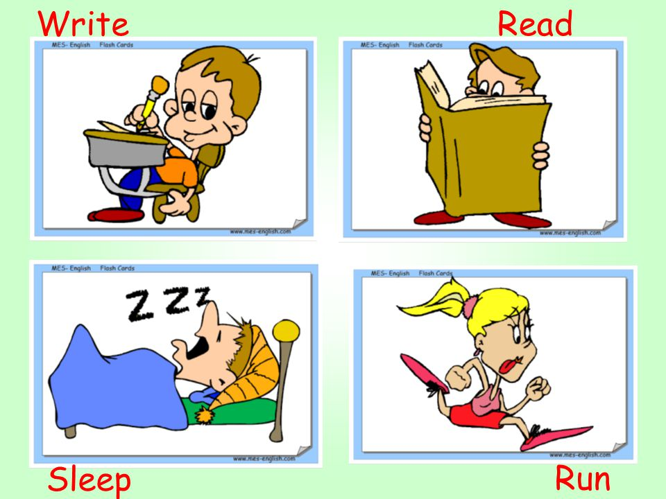 Write Read Sleep Run