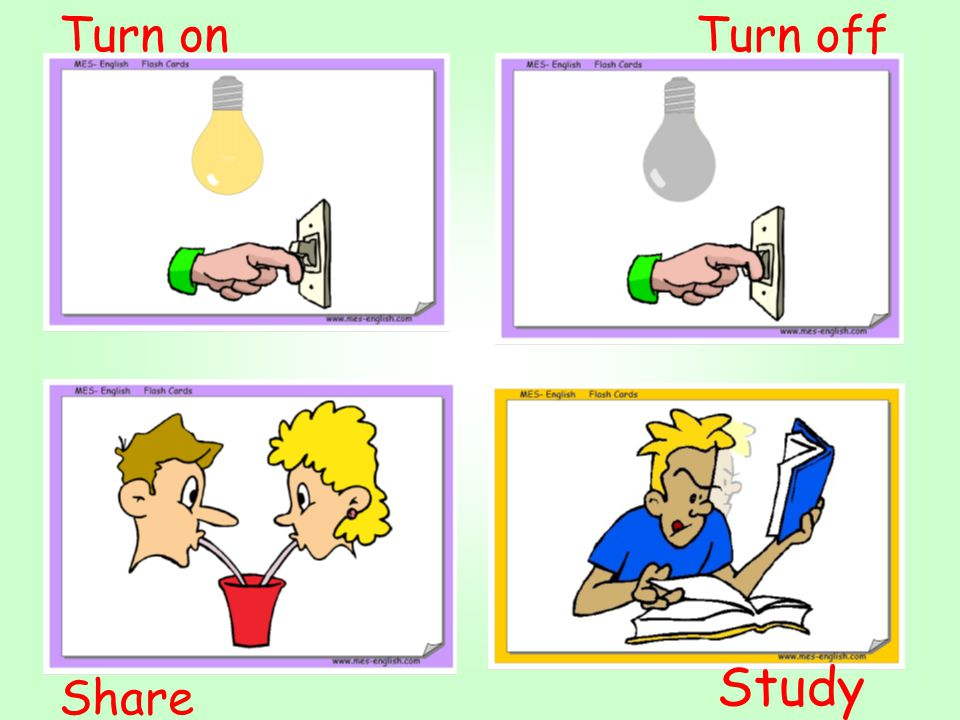 Turn on Turn off Study Share