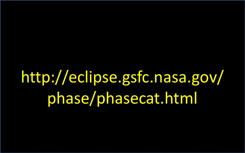 http://eclipse.gsfc.nasa.gov/ phase/phasecat.html
