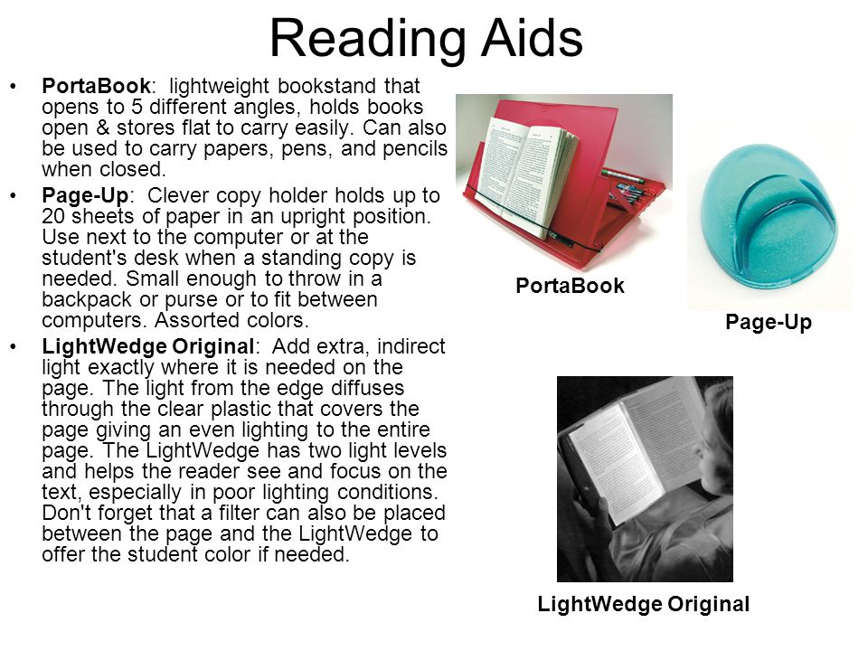 Reading Aids